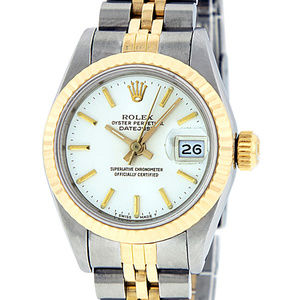 Rolex Ladies Datejust Silver Index Watch